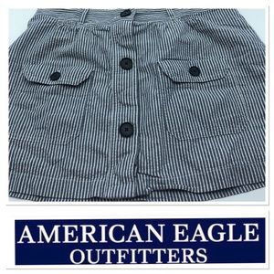 American Eagle Outfitters shorts- blue and white